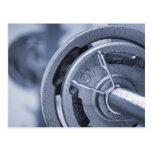 USA, New Jersey, Jersey City, Ten kilos weights Postcard