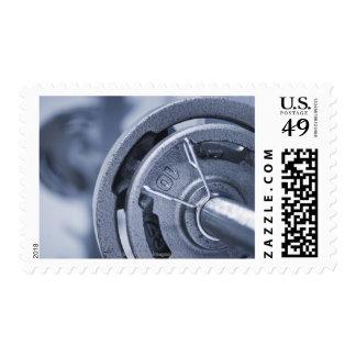 USA, New Jersey, Jersey City, Ten kilos weights Stamp