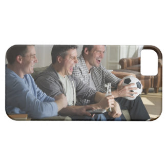 USA, New Jersey, Jersey City, three men watching iPhone 5 Covers