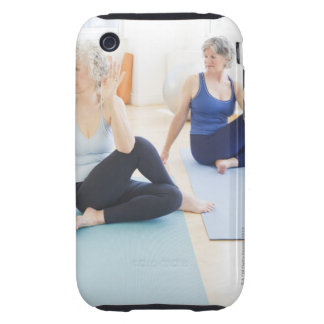 USA, New Jersey, Jersey City, Two senior women iPhone 3 Tough Case