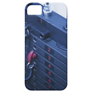 USA, New Jersey, Jersey City, Weights on iPhone 5 Case
