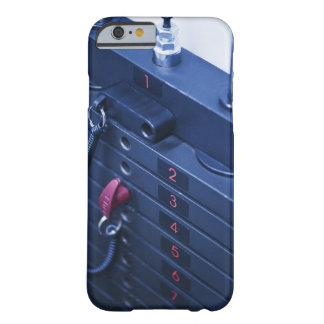 USA, New Jersey, Jersey City, Weights on Barely There iPhone 6 Case