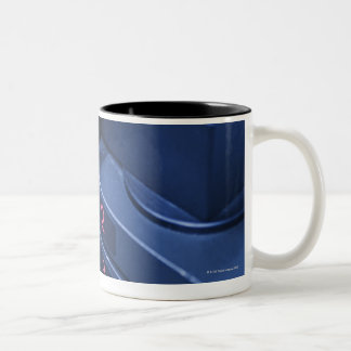 USA, New Jersey, Jersey City, Weights on Two-Tone Coffee Mug