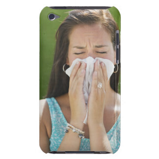 USA, New Jersey, Jersey City, Woman blowing nose iPod Touch Case-Mate Case