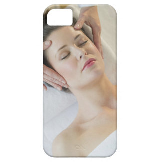 USA, New Jersey, Jersey City, woman receiving iPhone 5 Case