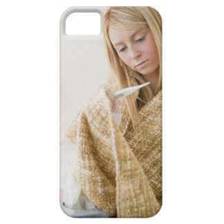 USA, New Jersey, Jersey City, woman wrapped in iPhone 5 Cases