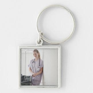 USA, New Jersey, Jersey City, Young nurse Keychain