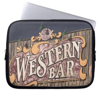USA, New Mexico, Cloudcroft: Mountain Town (el. Laptop Sleeve