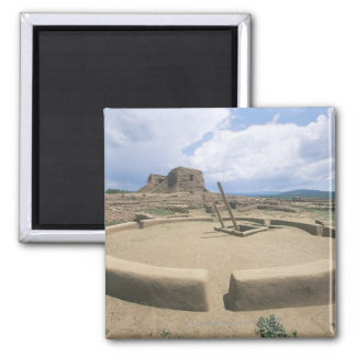 USA, New Mexico, Pecos National Historical Park, 2 Inch Square Magnet