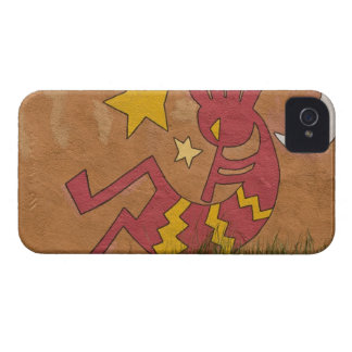USA, New Mexico, Santa Fe. Wall mural of a iPhone 4 Cover