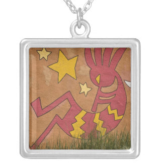 USA, New Mexico, Santa Fe. Wall mural of a Silver Plated Necklace