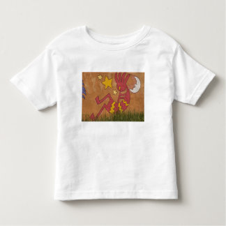 USA, New Mexico, Santa Fe. Wall mural of a Toddler T-shirt