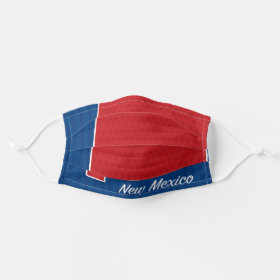 USA New Mexico State Stars and Stripes Map Cloth Face Mask