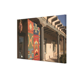 USA, New Mexico, Taos: Navaho Rug Gallery Kit Canvas Print