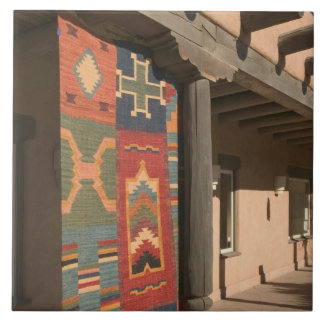 USA, New Mexico, Taos: Navaho Rug Gallery Kit Ceramic Tile