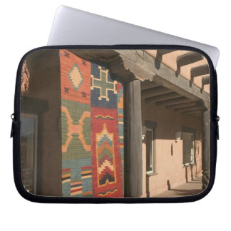 USA, New Mexico, Taos: Navaho Rug Gallery Kit Laptop Sleeve