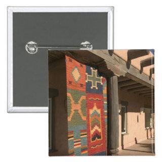 USA, New Mexico, Taos: Navaho Rug Gallery Kit Pinback Button
