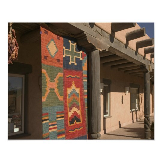 USA, New Mexico, Taos: Navaho Rug Gallery Kit Poster