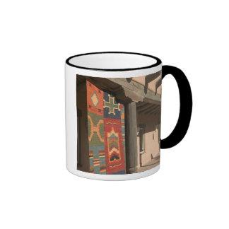 USA, New Mexico, Taos: Navaho Rug Gallery Kit Ringer Mug