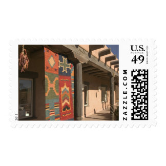 USA, New Mexico, Taos: Navaho Rug Gallery Kit Stamp