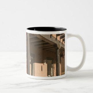 USA, New Mexico, Taos: Navaho Rug Gallery Kit Two-Tone Coffee Mug