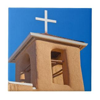 USA, New Mexico. Top Rancho De Taos Ceramic Tile