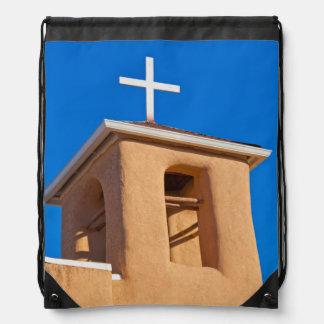 USA, New Mexico. Top Rancho De Taos Drawstring Backpack