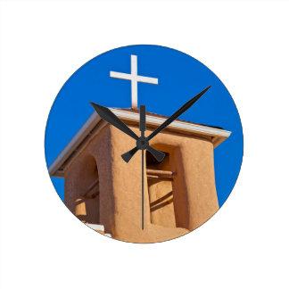 USA, New Mexico. Top Rancho De Taos Round Clock