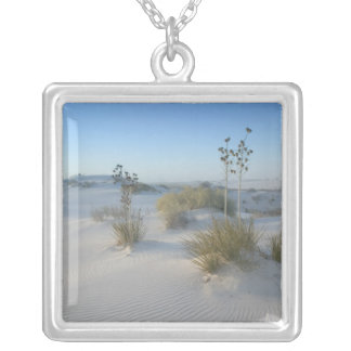USA, New Mexico, White Sands National 2 Silver Plated Necklace