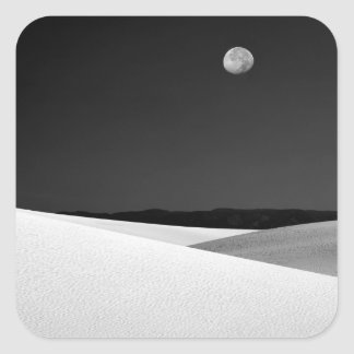 USA, New Mexico, White Sands National Monument. Square Sticker