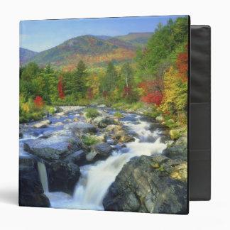USA, New York. A waterfall in the Adirondack 3 Ring Binder