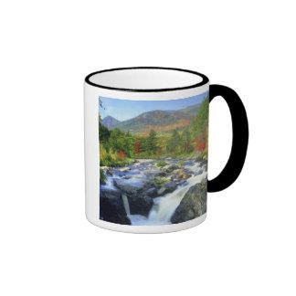 USA, New York. A waterfall in the Adirondack Ringer Coffee Mug