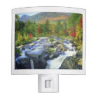 USA, New York. A waterfall in the Adirondack Night Light