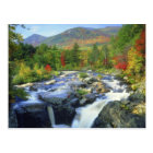 USA, New York. A waterfall in the Adirondack Postcard