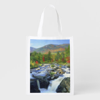 USA, New York. A waterfall in the Adirondack Reusable Grocery Bag