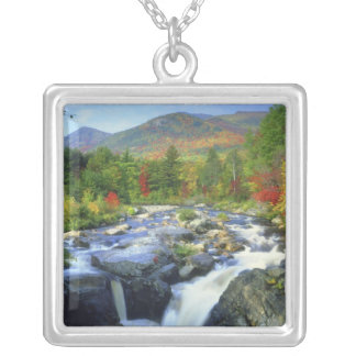 USA, New York. A waterfall in the Adirondack Silver Plated Necklace