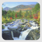 USA, New York. A waterfall in the Adirondack Square Sticker