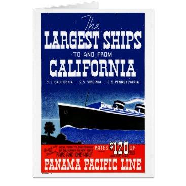 USA Themed USA New York California Restored Vintage Poster Card