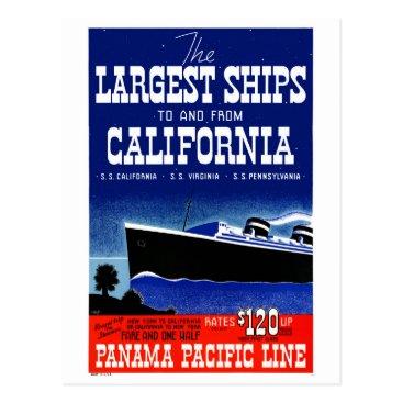 USA Themed USA New York California Restored Vintage Poster Postcard