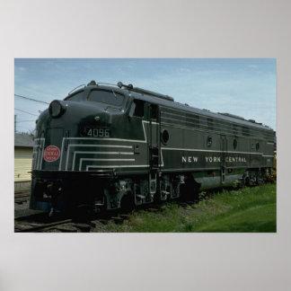 USA, New York Central EMD E8 passenger diesel Print