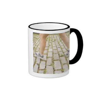 USA, New York City, Blurred legs of woman Mug