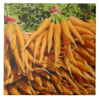 USA, New York City, Carrots for sale 2 Ceramic Tile