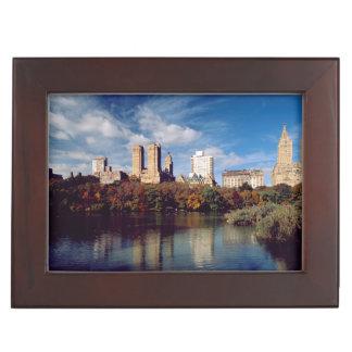 USA, New York City, Central Park, Lake Keepsake Box