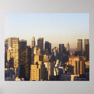 USA, New York City, Manhattan skyline 2 Poster
