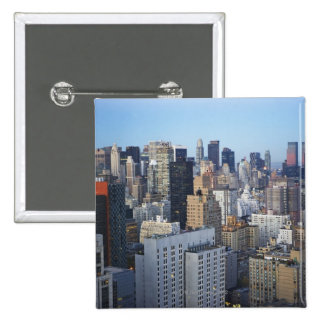 USA, New York City, Manhattan skyline Button