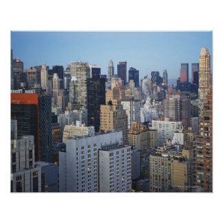 USA, New York City, Manhattan skyline Poster
