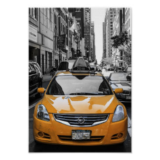USA New York City Taxi Poster
