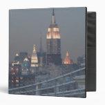 USA, New York City, View of Manhattan Bridge, 3 Ring Binder