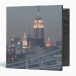 USA, New York City, View of Manhattan Bridge, 3 Ring Binders