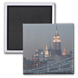 USA, New York City, View of Manhattan Bridge, Magnets